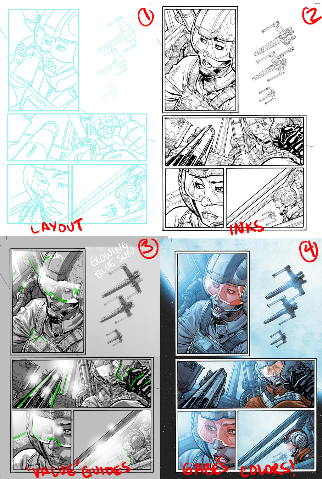 Star Wars page process by Chuckdee