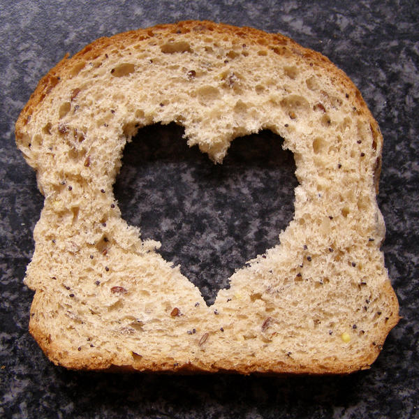 Photo Stock I love bread by chop stock