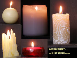 lit candle sheet... by chop-stock