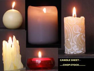 lit candle sheet...