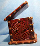 studded wooden box 2...