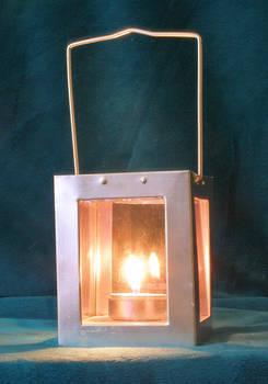 Silver lantern...