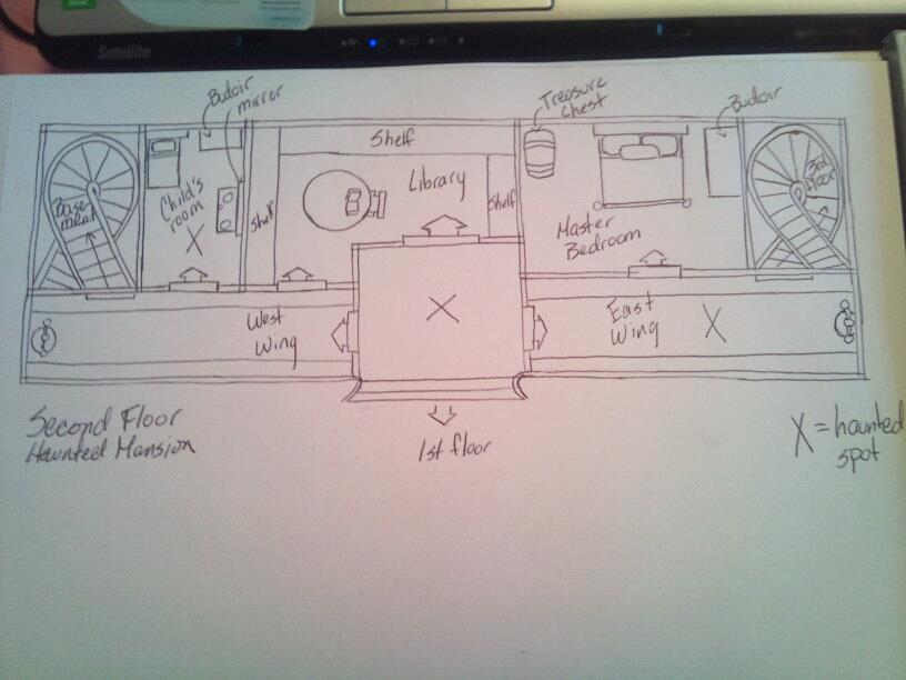 Designing haunted house layout