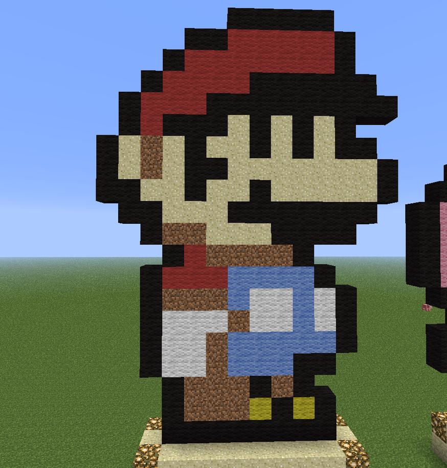 Ness Minecraft Pixel Art Mario