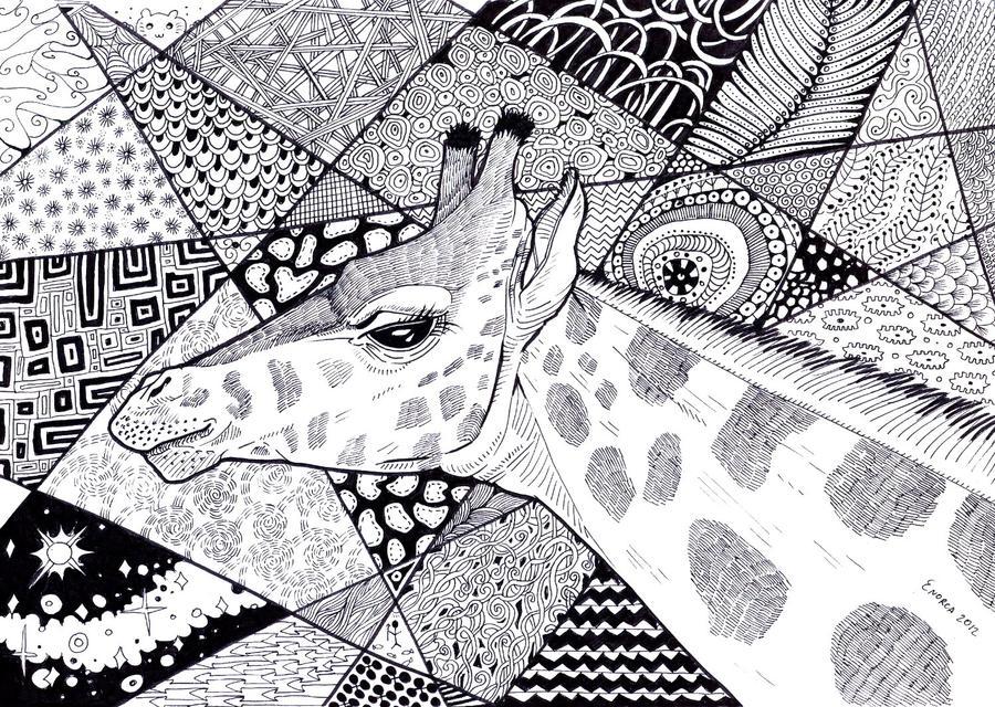 Giraffe by Zvynuota