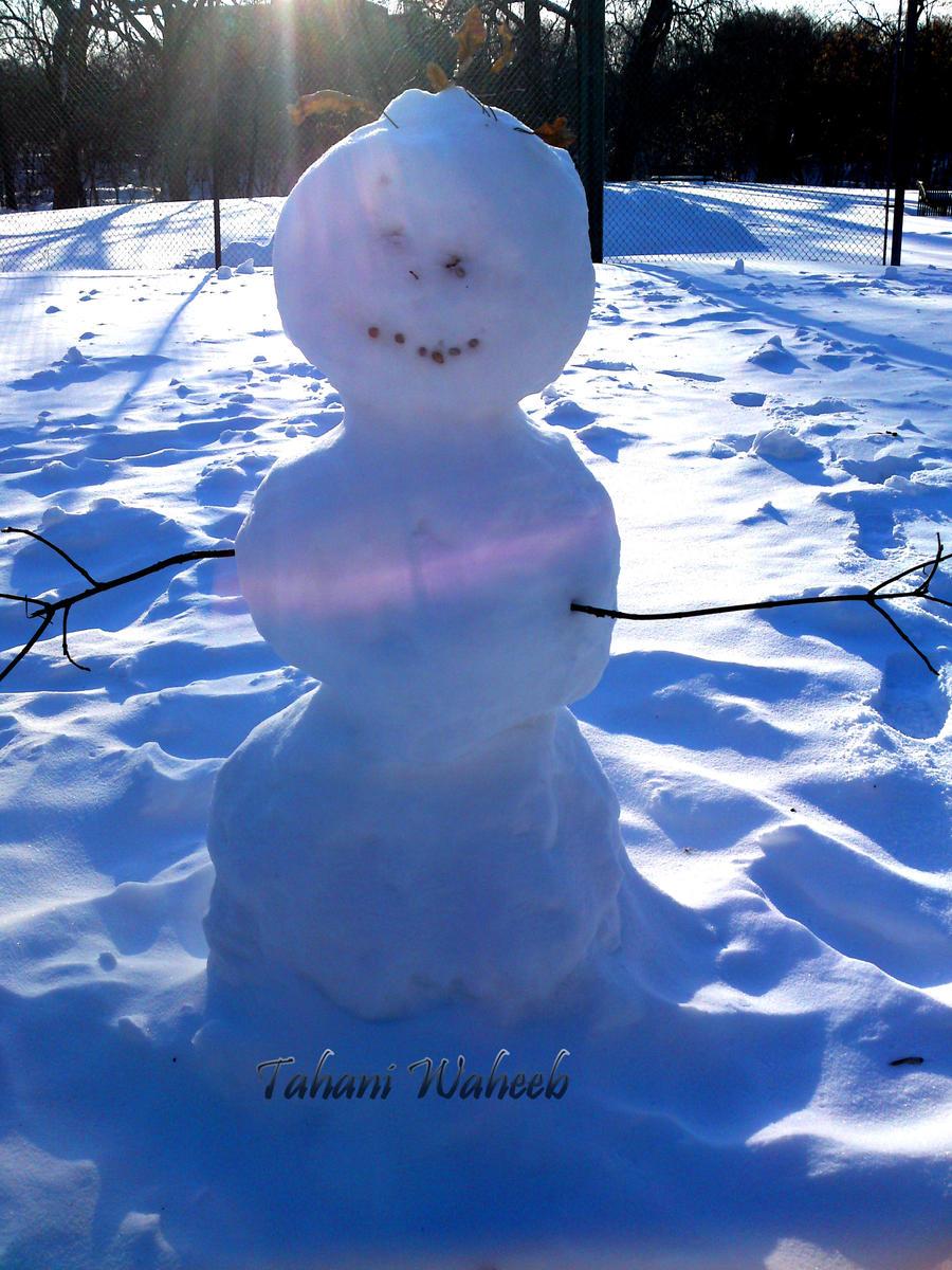 Snow man by ThePurpleLilac