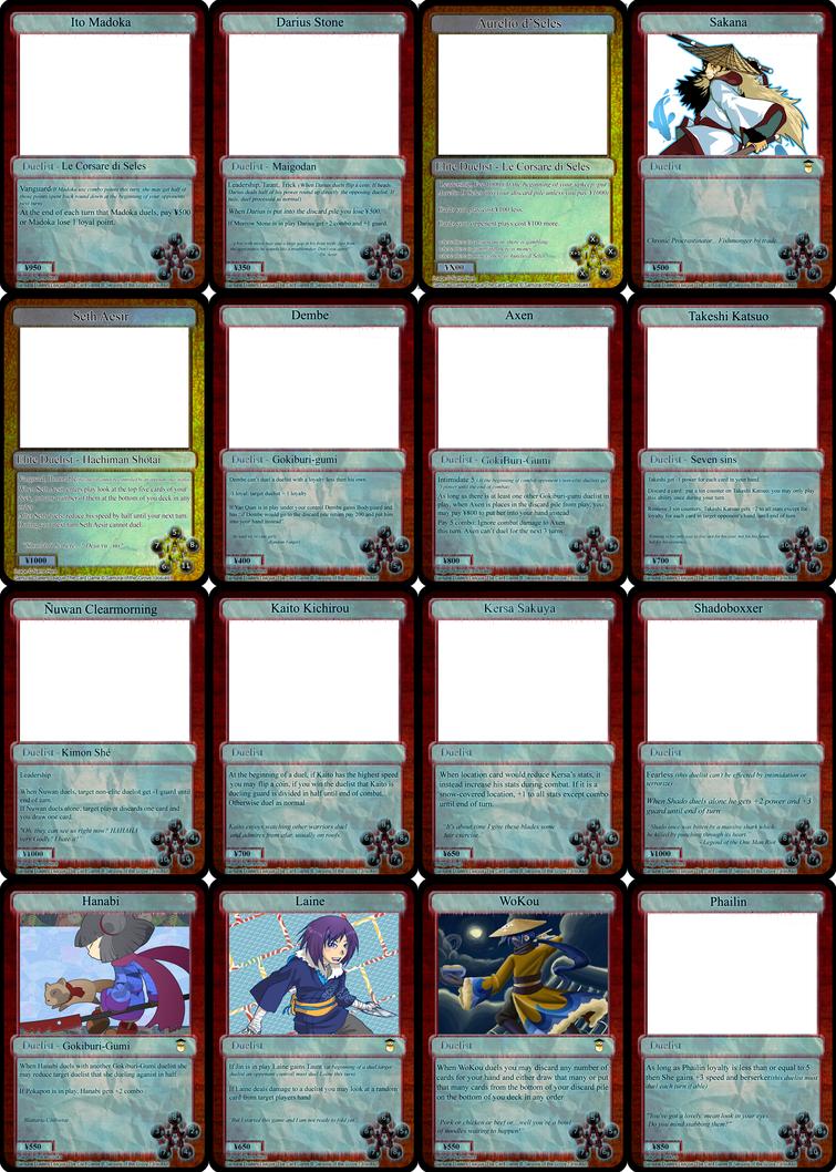 Winter Brawl Cards - WIP by SamuraiOfTheGrove