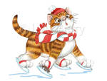 Ice Skating Kitty by bigcatdesigns