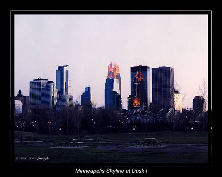 Minneapolis Skyline at Dusk 1