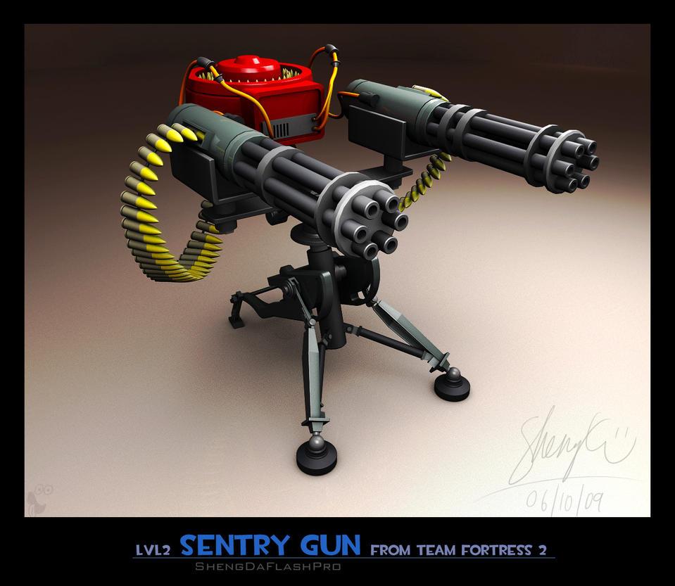 lvl2 Sentry Gun by ShengDaFlashPRo on DeviantArt
