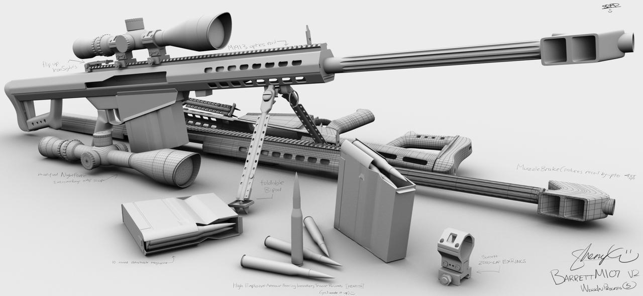 Barrett M107 WIP5 by  M107