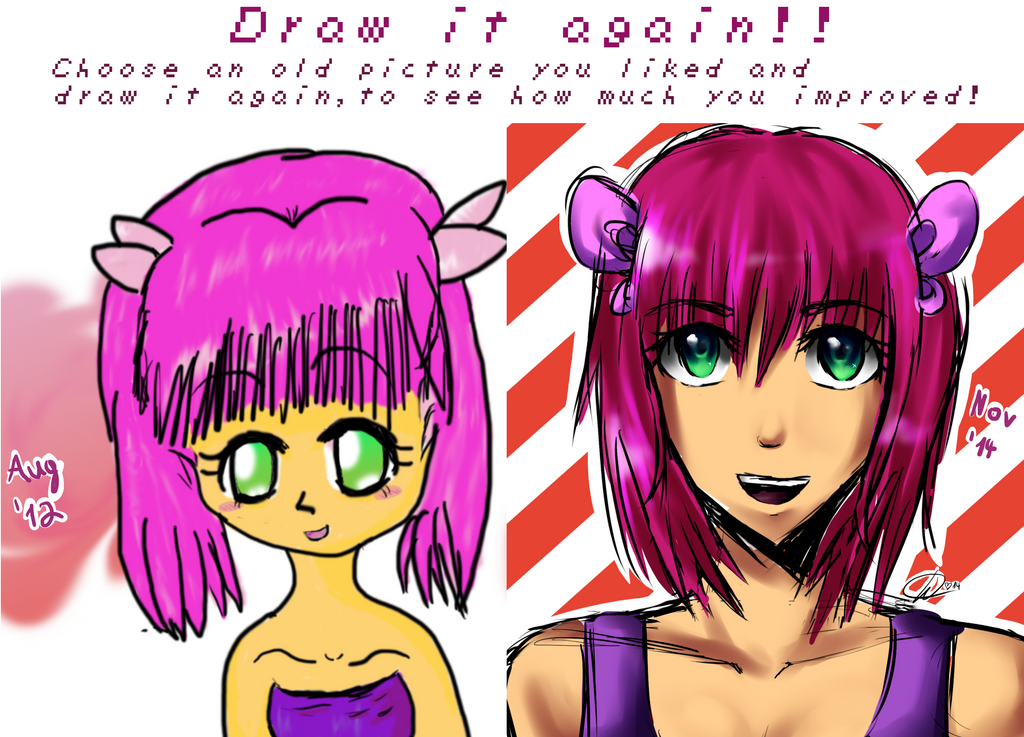 Draw it again: OLD OC Shizuka! by Rii-chanx3