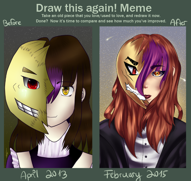 Draw this again: 2013 - 2015 - Watching you by Rii-chanx3
