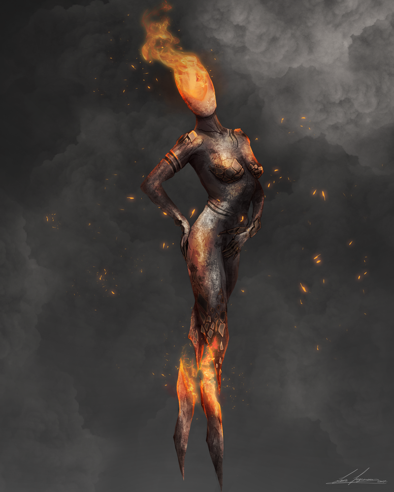 Fire Golem by LukeFitzsimons