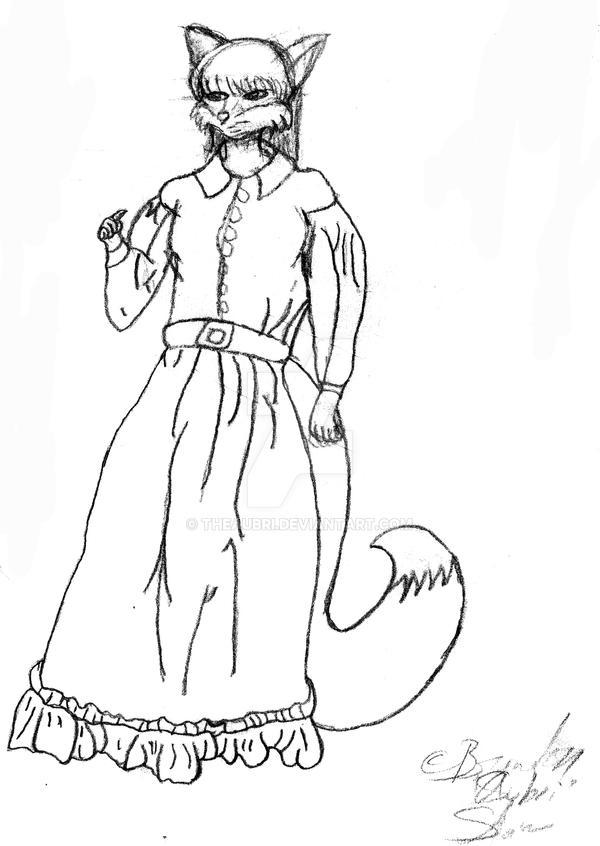 Random  Vixen in Dress by TheAubri