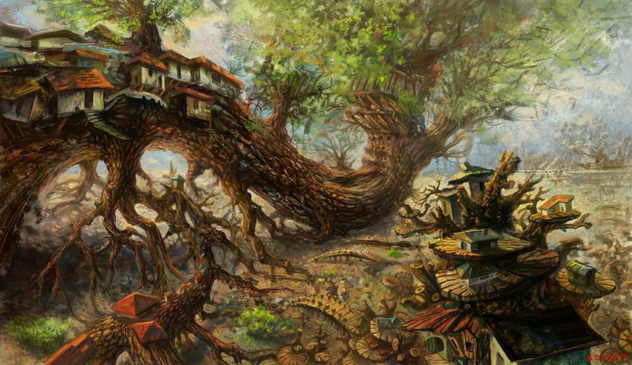 City of wood by bocho
