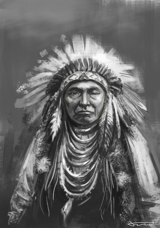 Native american speed drawing study by bocho on DeviantArt
