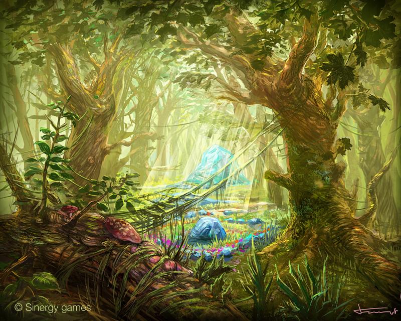 Fairy woods by bocho on DeviantArt