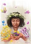 Herbalist girl