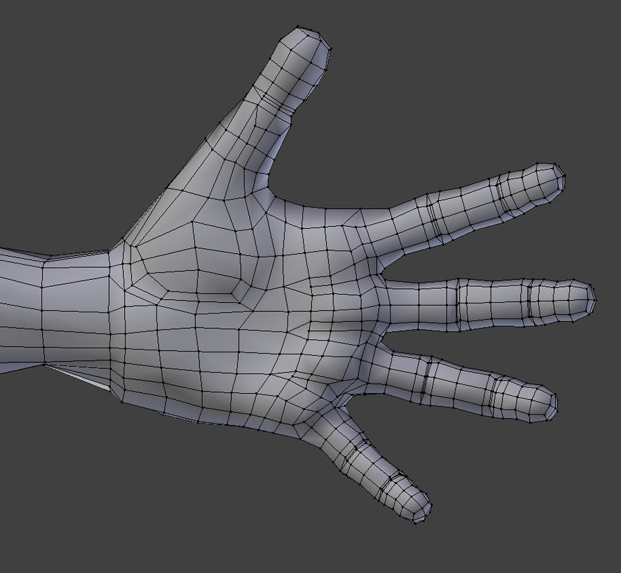 Blender 3d Hand ~ Low poly male palm wireframe blender d by shugs on