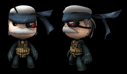 Old Solid Snake Sackboy by gylo