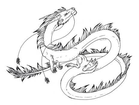 Free lineart: Eastern dragon