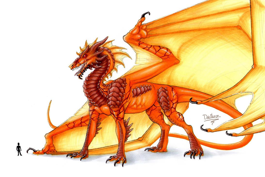 Ancient fire dragon by Dreikaz
