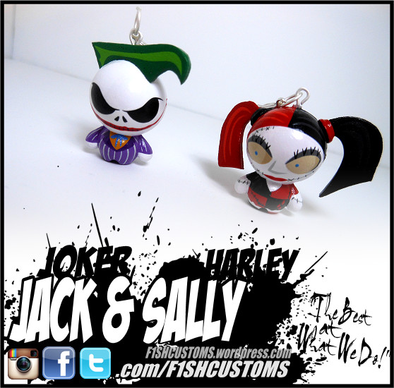 Nightmare before Christmas Jack and Sally by F1shcustoms