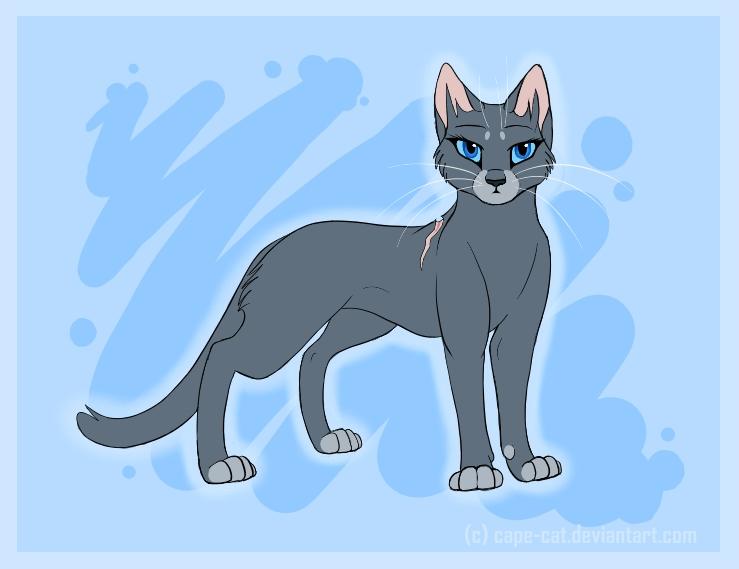 Как рисовать синюю звезду из котов воителей