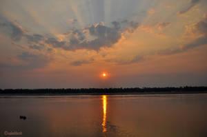 evening reflection by valaddoch