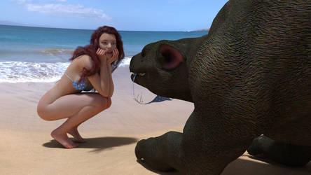 Beach friends 3 by drakonrenders