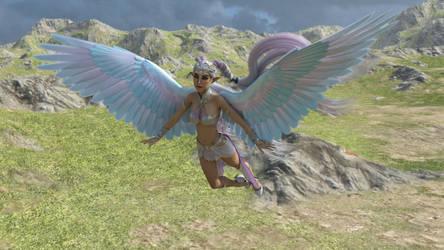 Rainbow Fairy by drakonrenders