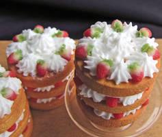 Strawberries and cream by GoddessofChocolate