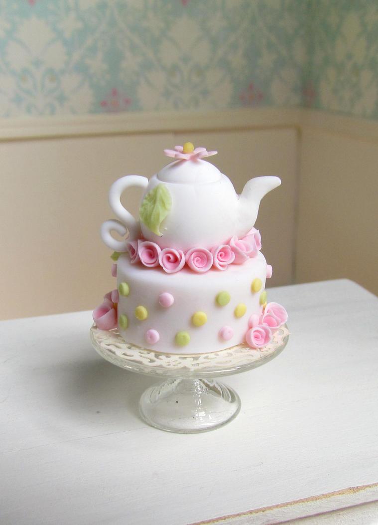 Tea pot cake by GoddessofChocolate
