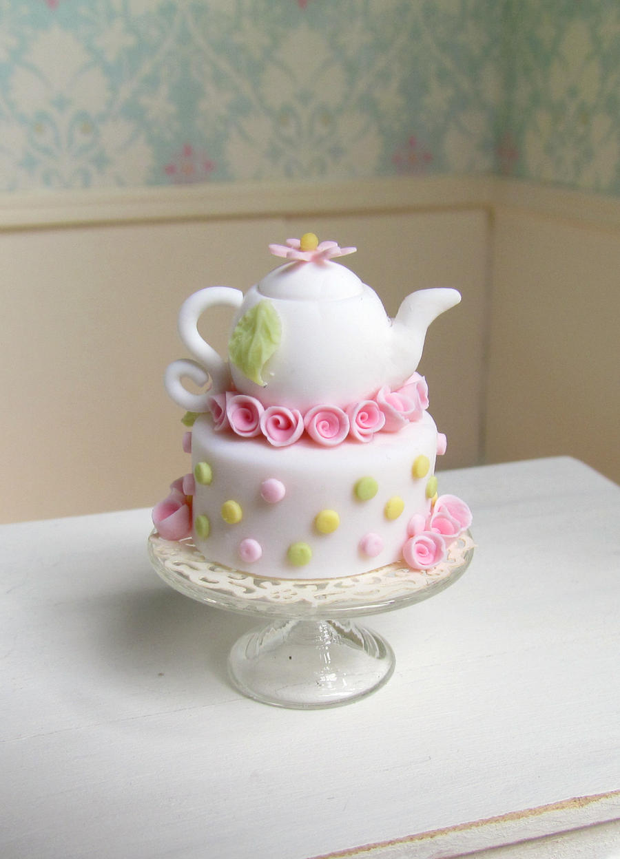 Tea pot cake by GoddessofChocolate