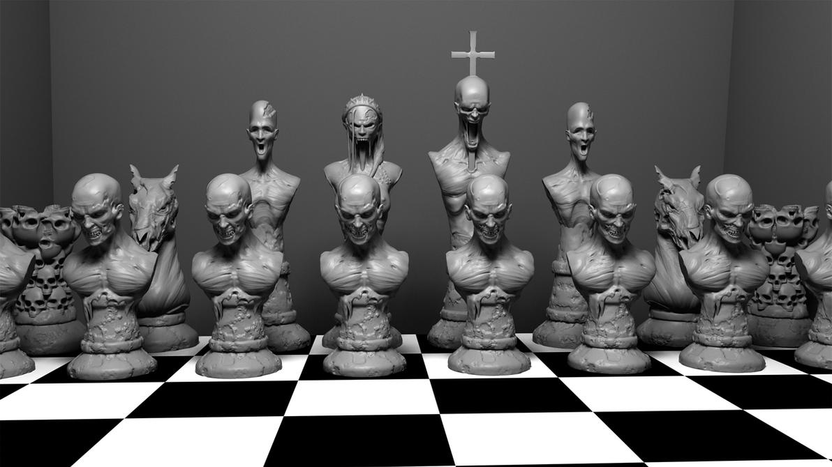 Zombie Chess Set by Wreckluse