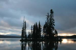 landscape 47: sunrise island by cyborgsuzystock