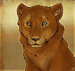Lion Cub Study by KarolinaB