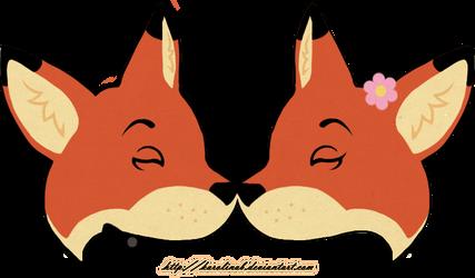 Wedding Foxes by KarolinaB