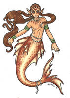 Tide the Merboy - Colour by LiselleAngelique