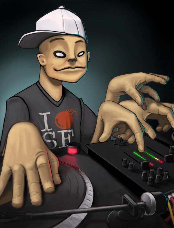 DJ Qbert by frazbot