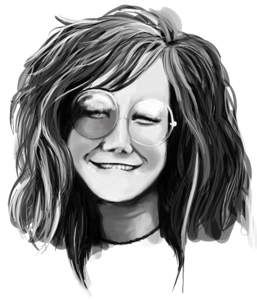 It's just a graphic of Hilaire Janis Joplin Drawing