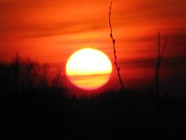 Sun setting by SierraDemonica