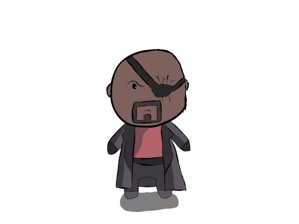 Nick Fury Chibi by Bug...