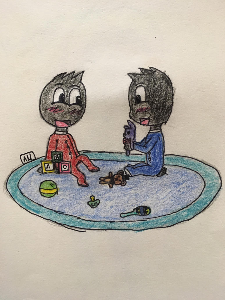 Darvin and Maffy playing toys :3 by Andrea6675