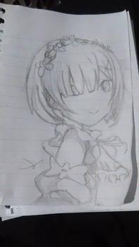 Re:Zero Rem Initial sketch