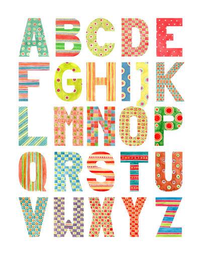 Alphabet - Water...D Alphabet Design