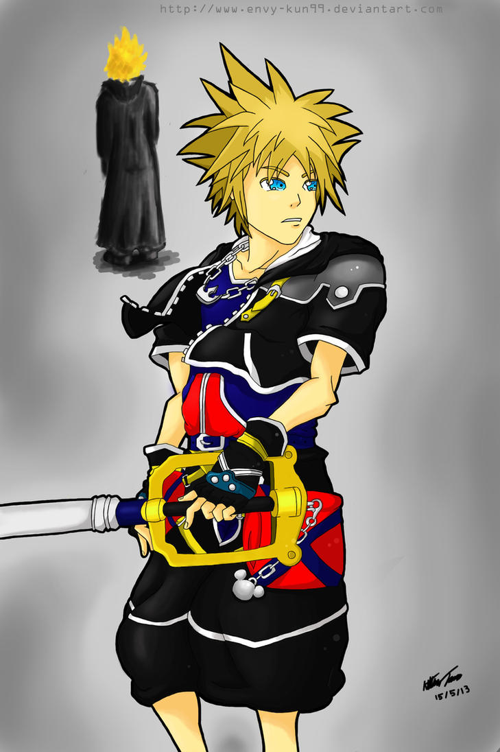 Art Trade: Sora - Kingdom Hearts II by Envy-kun99