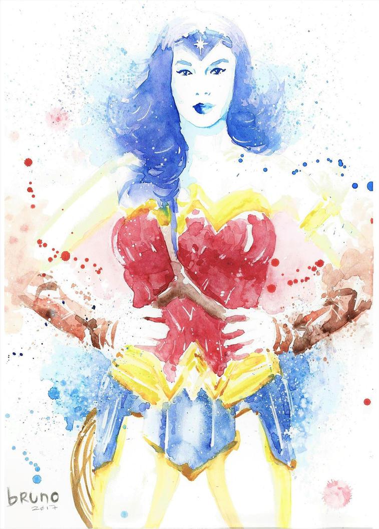 Wonder Woman watercolors by Bru-Cosmo