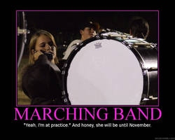 Marching Band: At Practice by StuntzTheDude